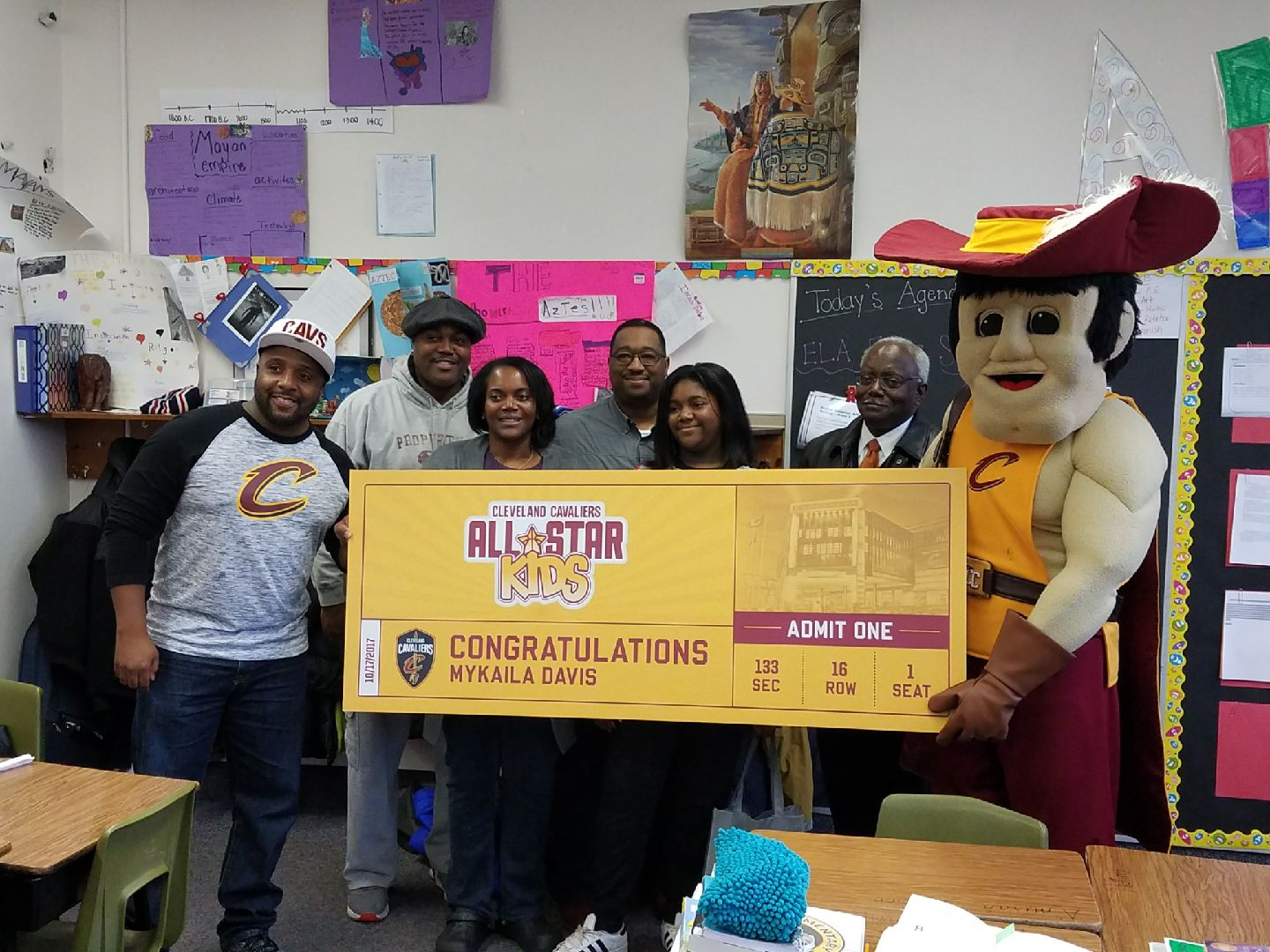 November Cavs All-Star Kid of the Month from Oxford
