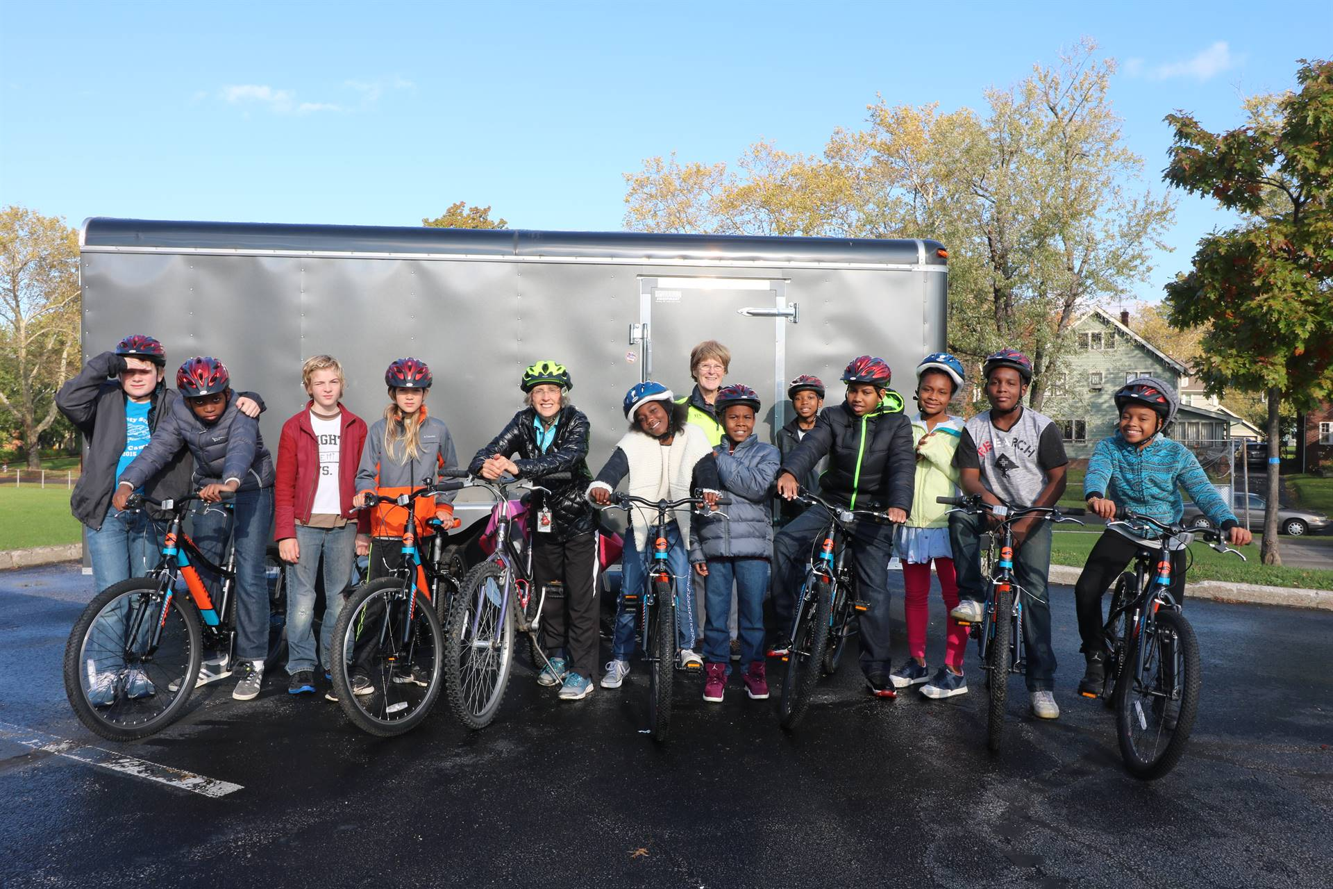 Ms. Stratton's Class Uses Bike Fleet