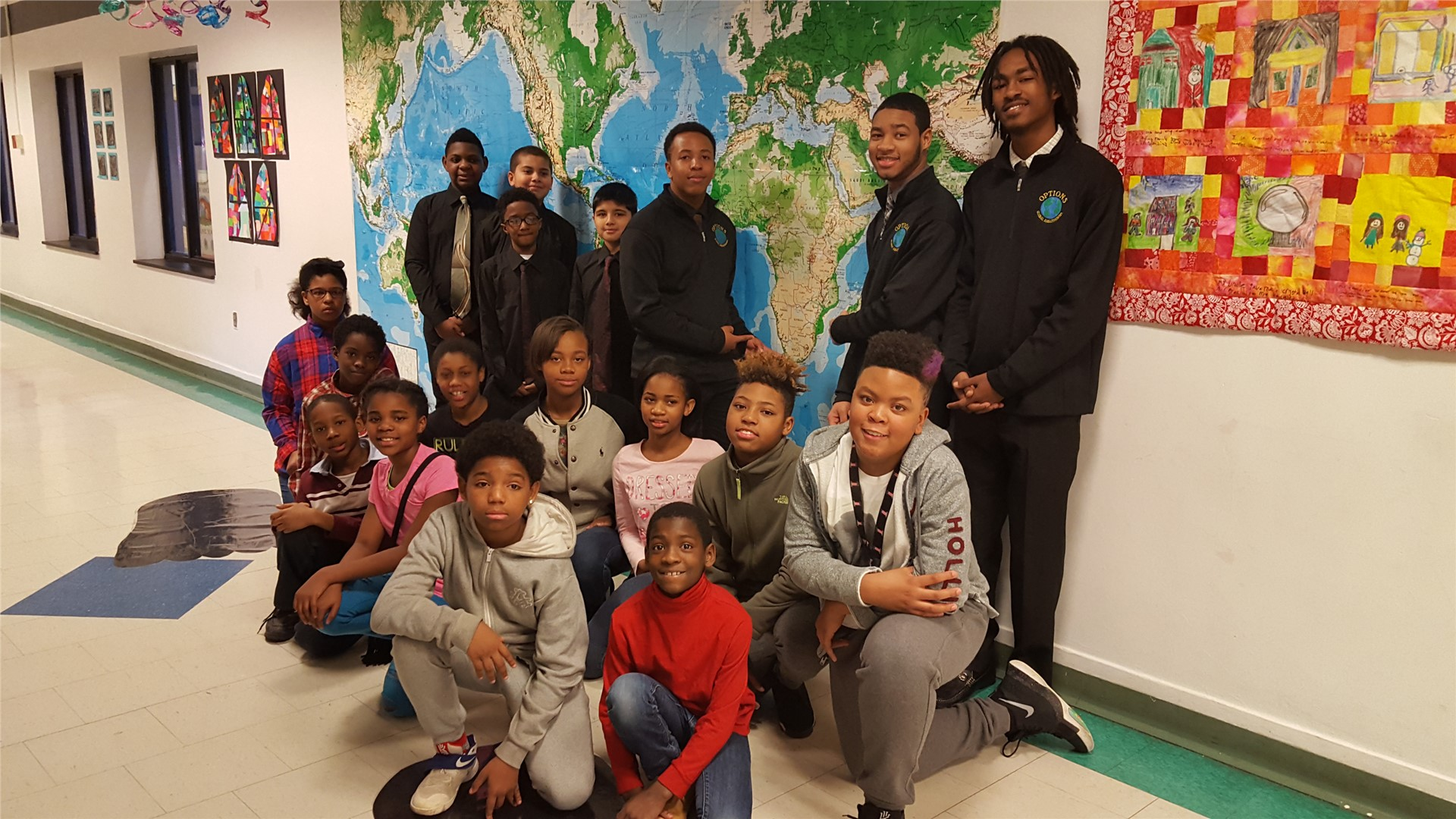 Options Global Ambassadors visits Noble Elementary School
