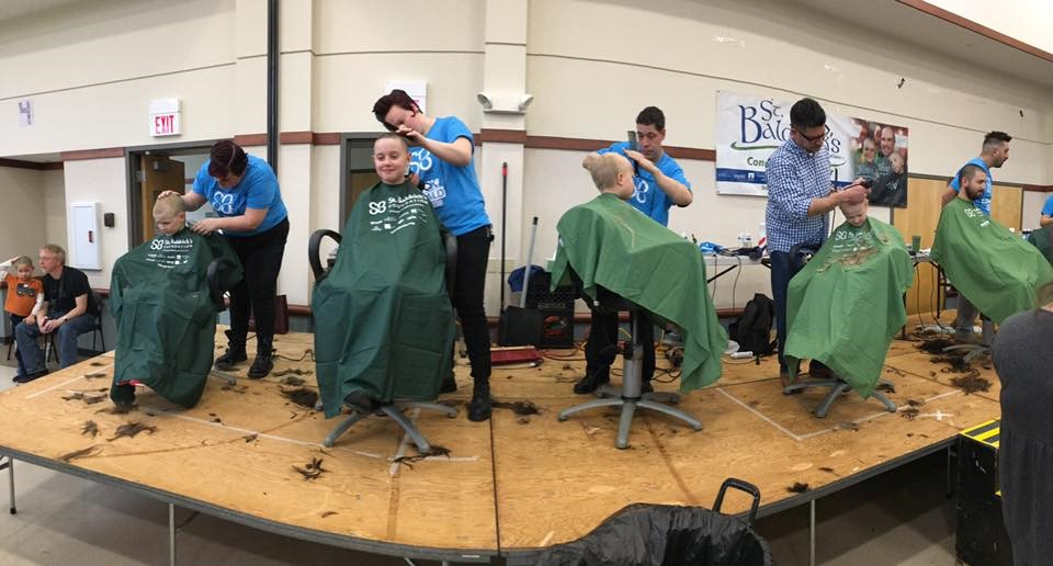 Canterbury represents at the 2017 St. Baldrick's fundraising event!