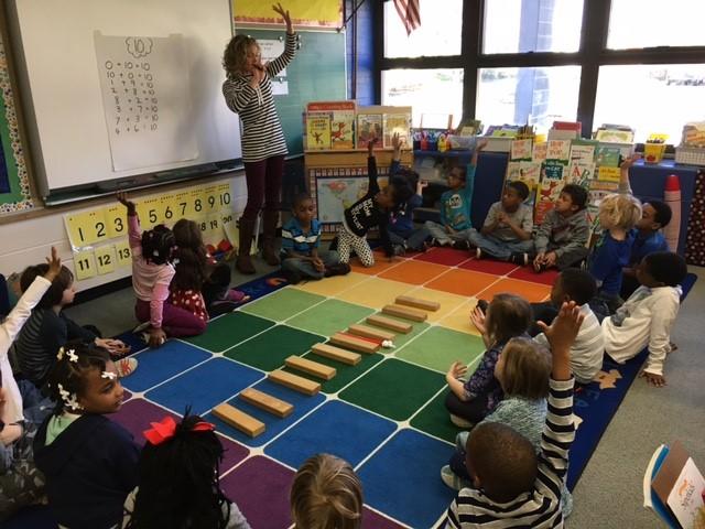 Kindergarten Students Learn Partners of Ten