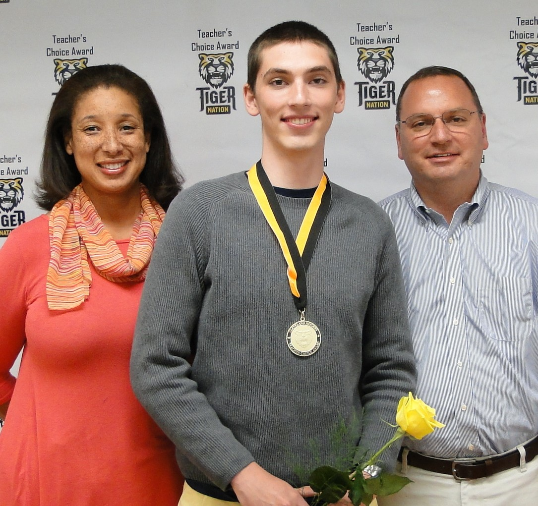 Andy Bell, recognized by Mrs. Clarck