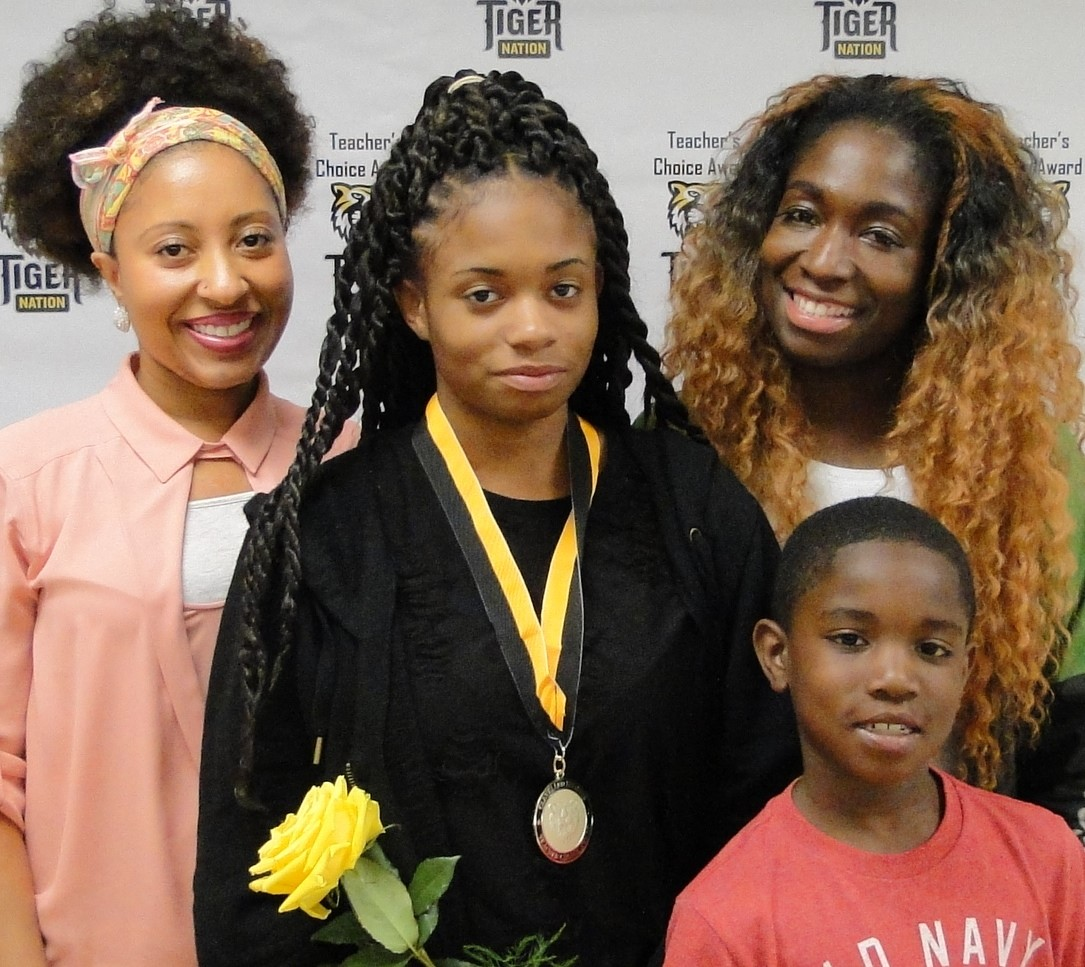 Briya Gilmore recognized by Ms. Mims