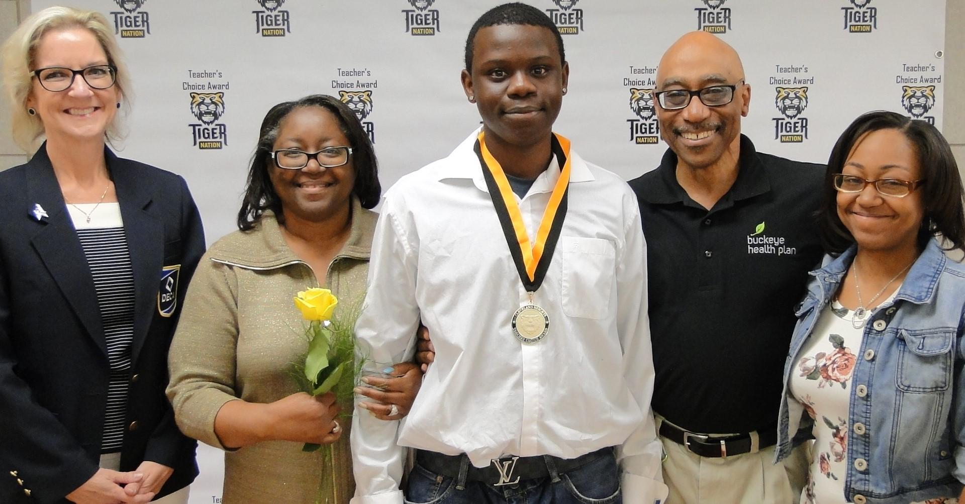 Douglas Jackson recognized by Ms. Parker