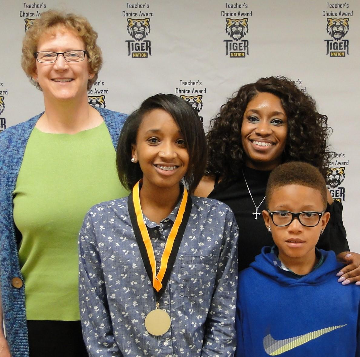 Ivy Kennedy recognized by Linda Washut