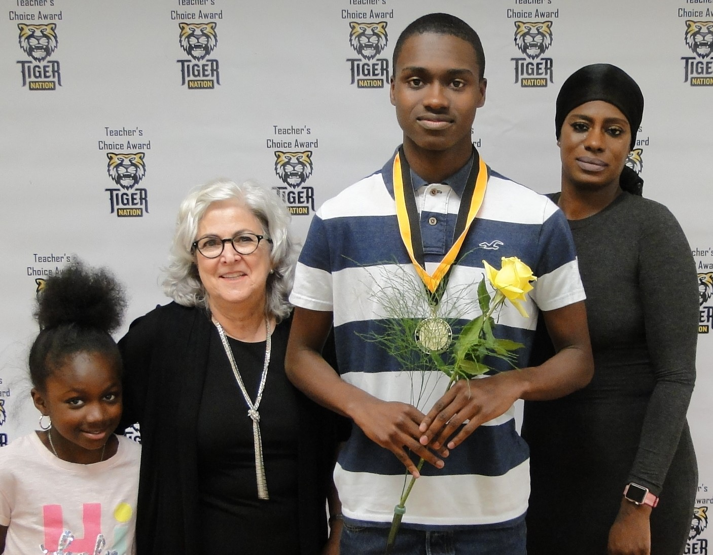 JaRay David recognized by Marcy Joublanc
