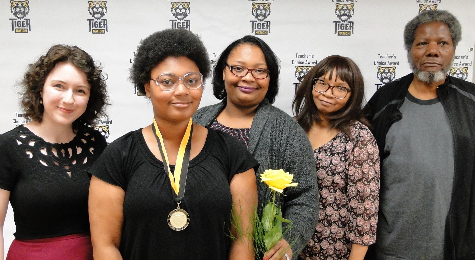 Maria Vaughn Jones recognized by Ms. Raack