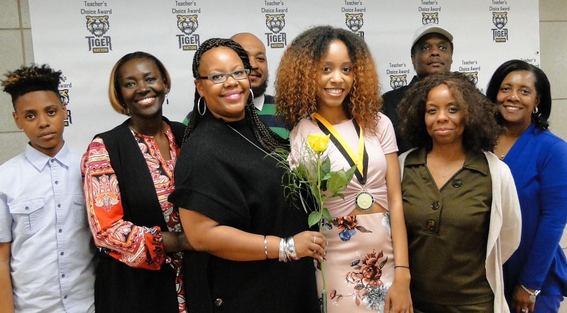 Sade Foster recognized by Ms. Adeyemon