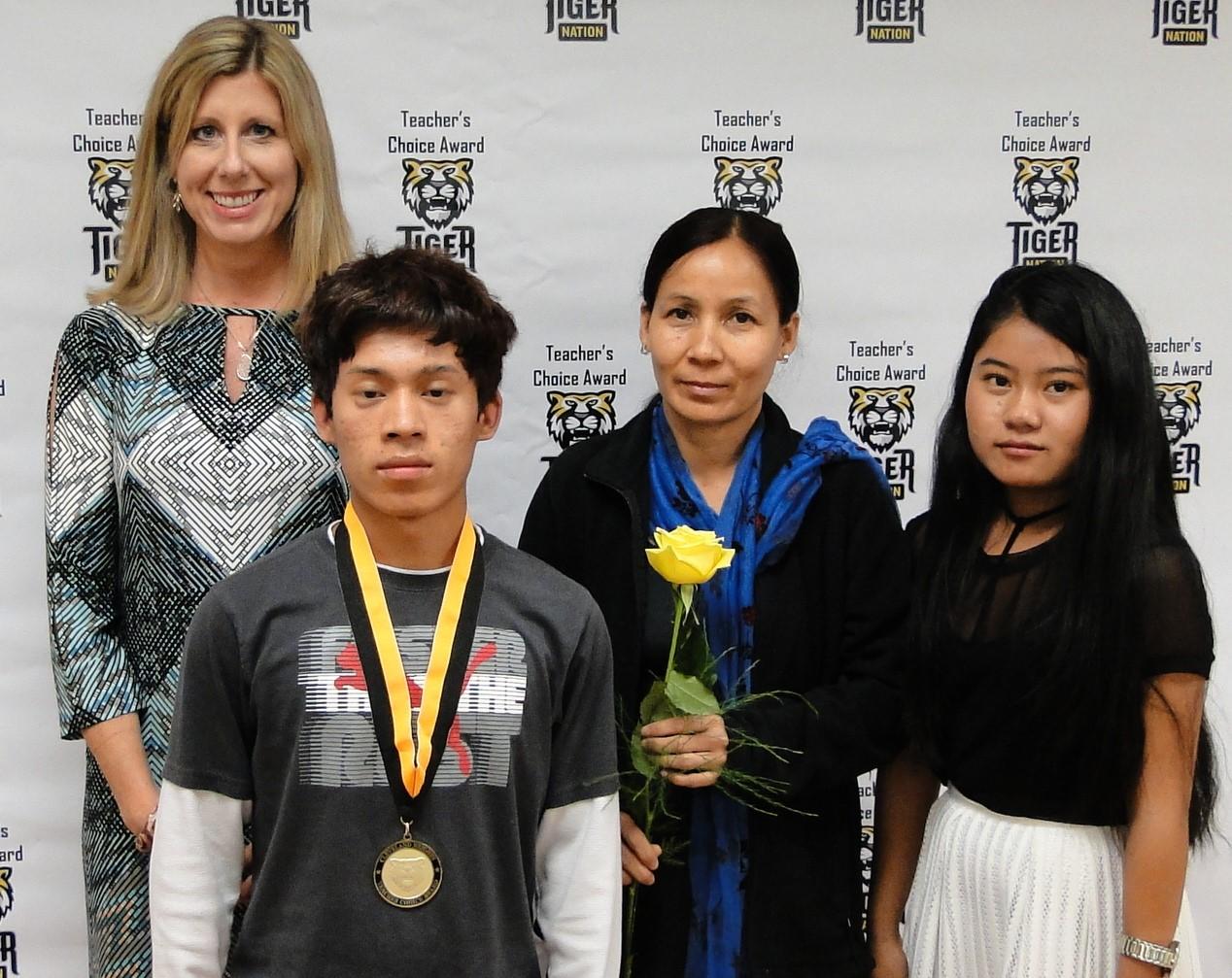 Rabin Gurung recognized by Mrs. Scullu