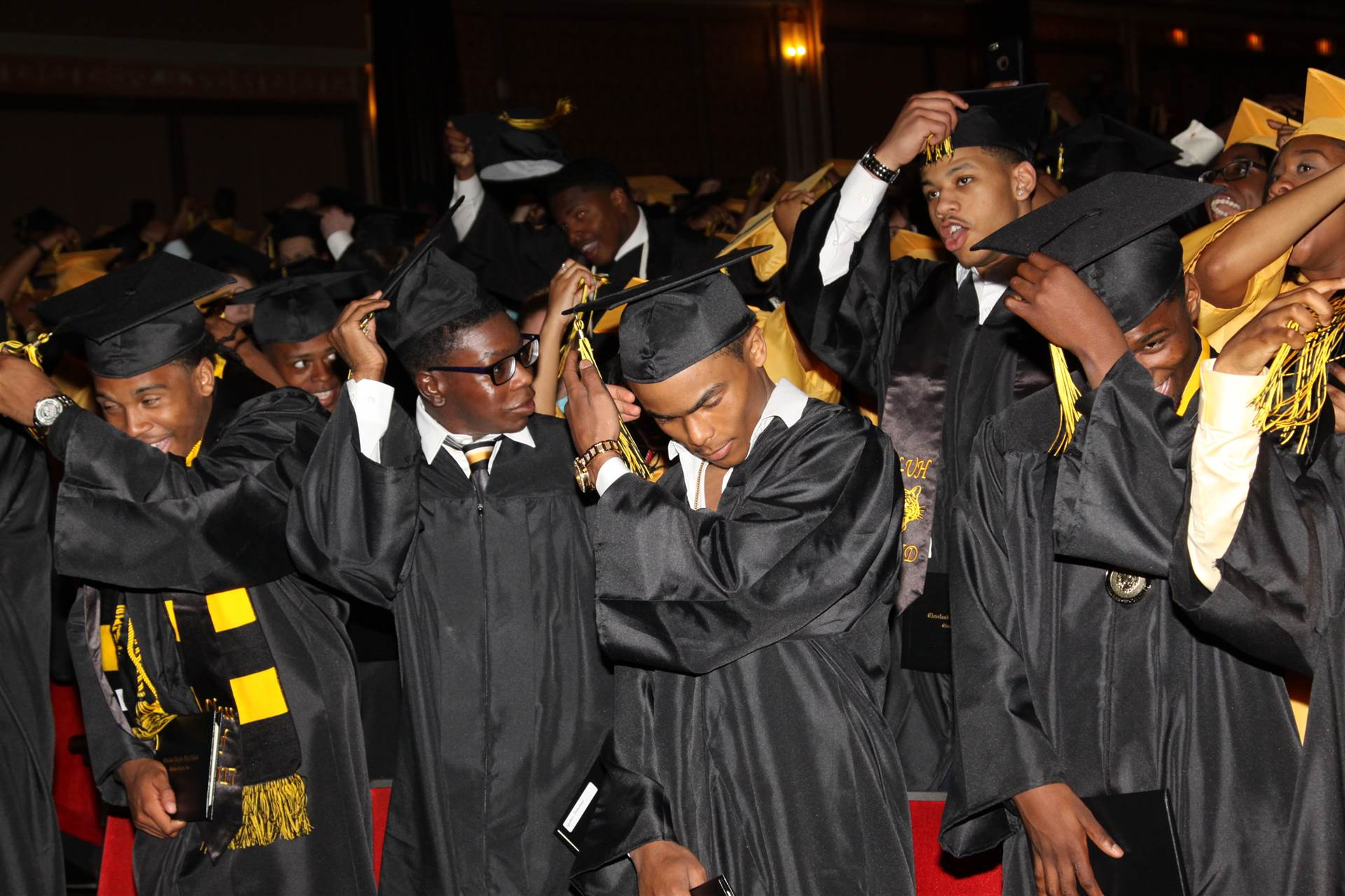Graduates at the 2017 Heights High commencement