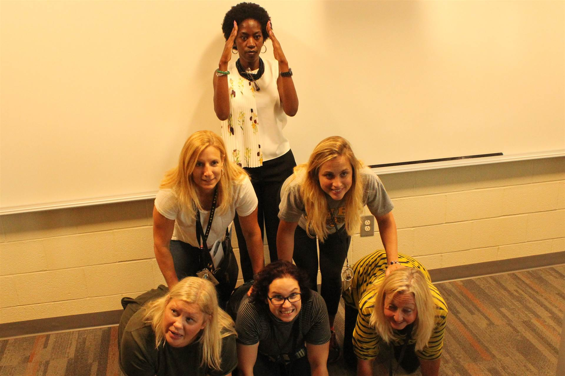 Team pyramid in a member's classroom.