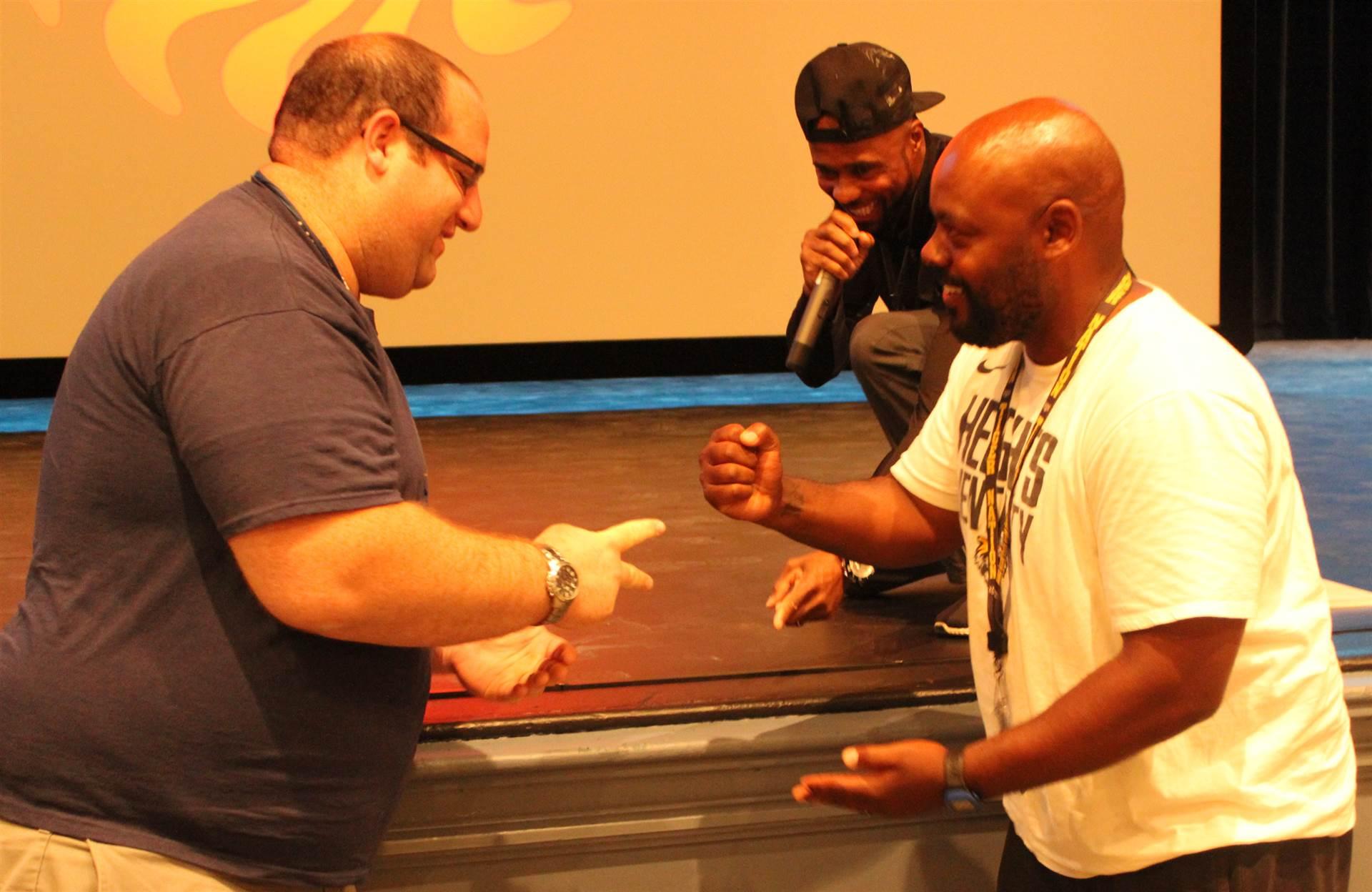 Rock-paper-scissors determines winner.