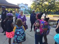 Mayor with Roxboro Students