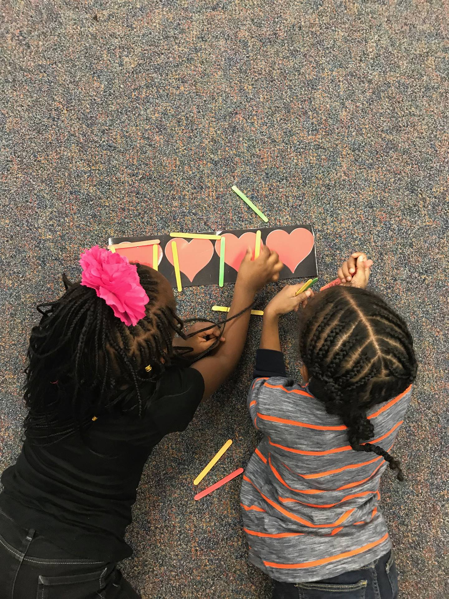 1st grade students practice writing new rhythms in music!