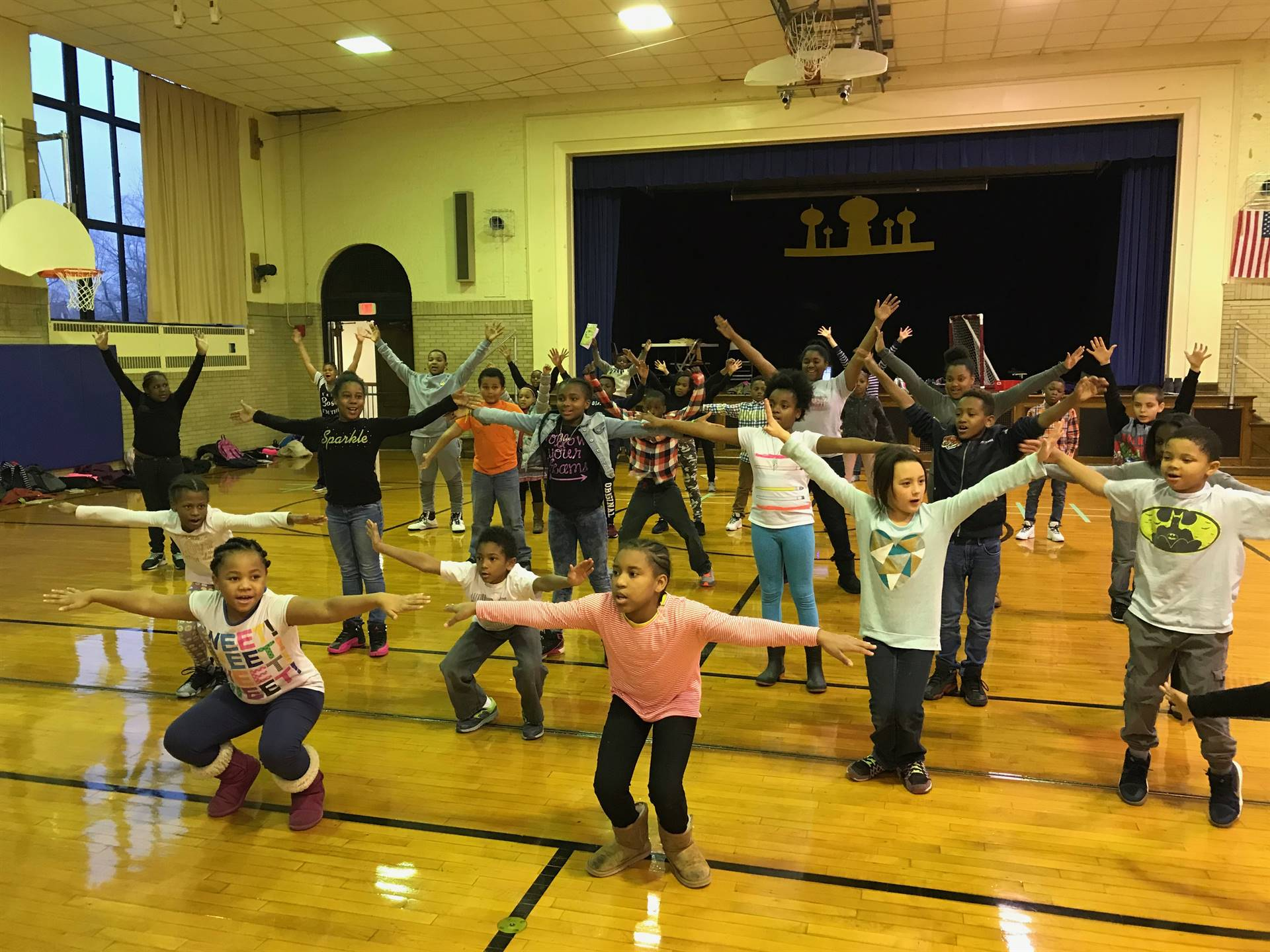 Students rehearse for the upcoming Jungle Book Kids