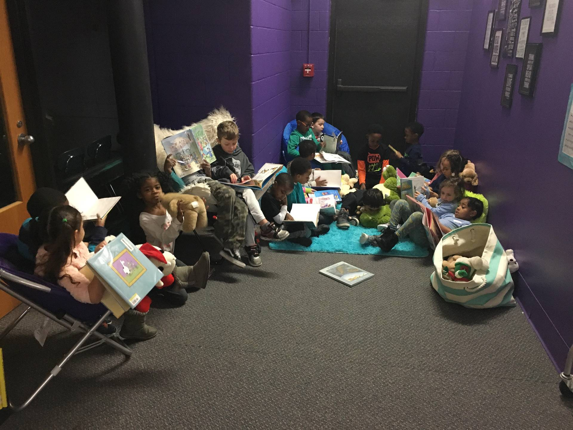 Sharing Books in Ms. Riley's Book Nook