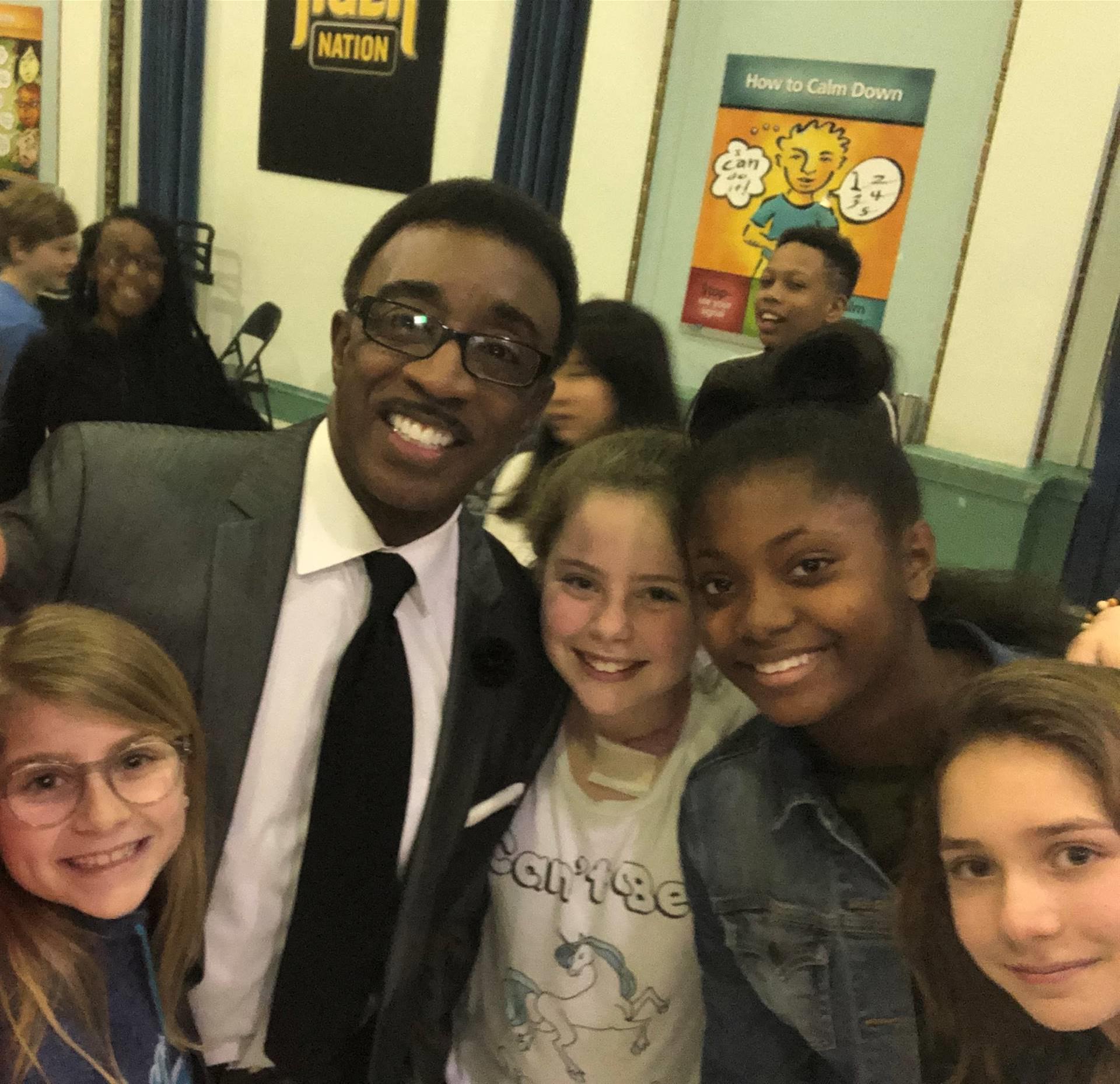 Wayne Dawson visits Roxboro Elementary
