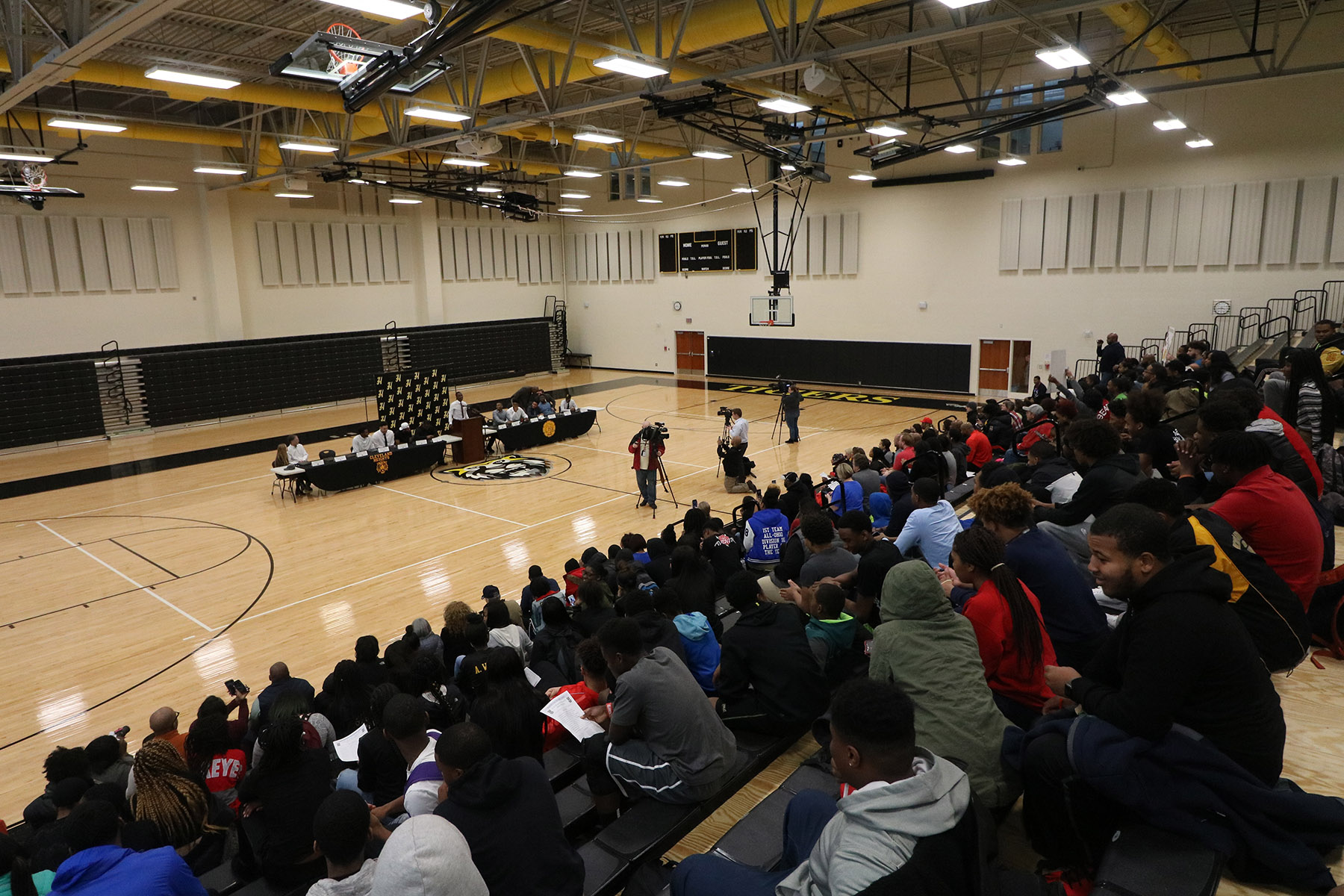National Signing Day crowd at the CHHS Gymnasium