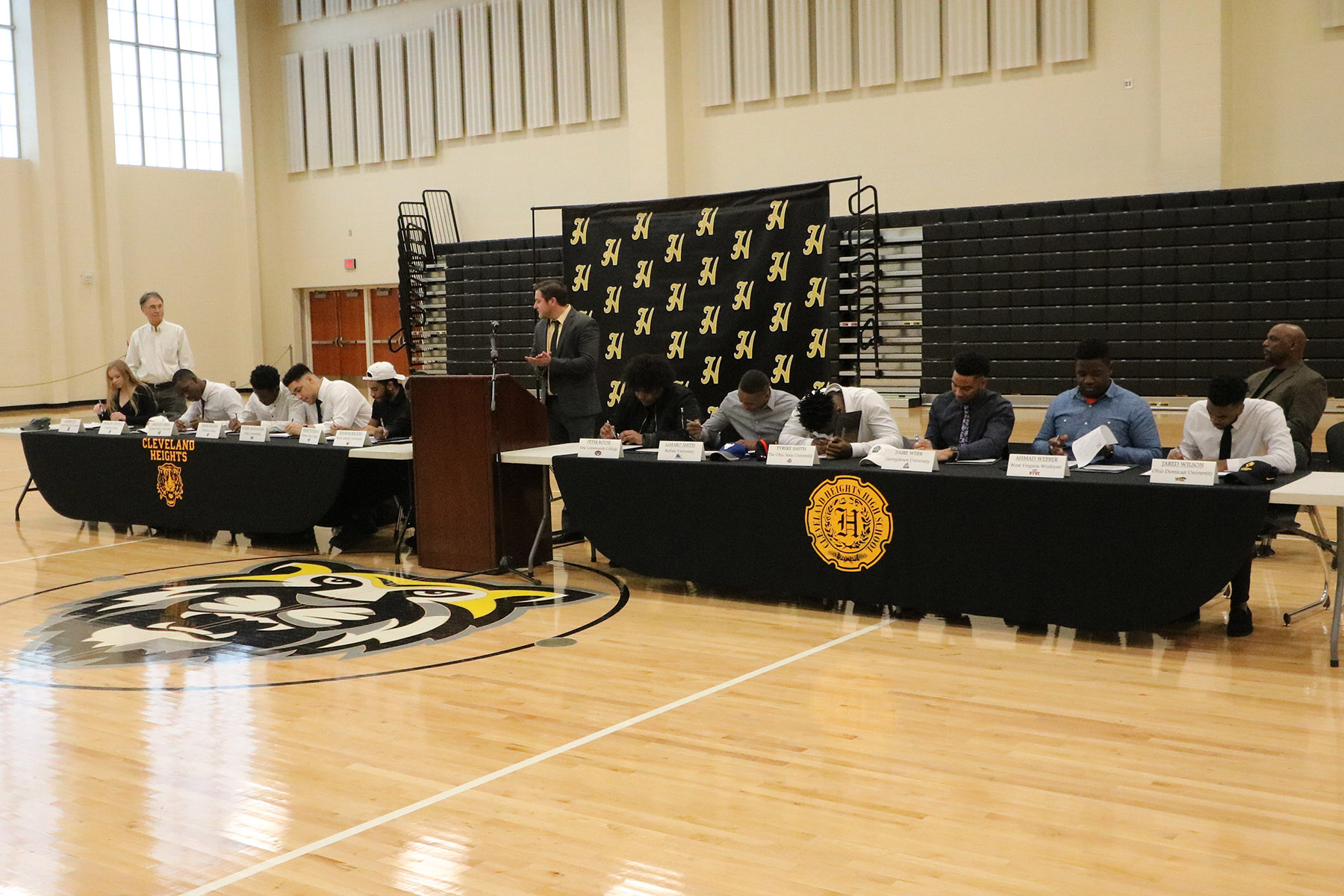 Heights High student-athletes sign their letters of intent