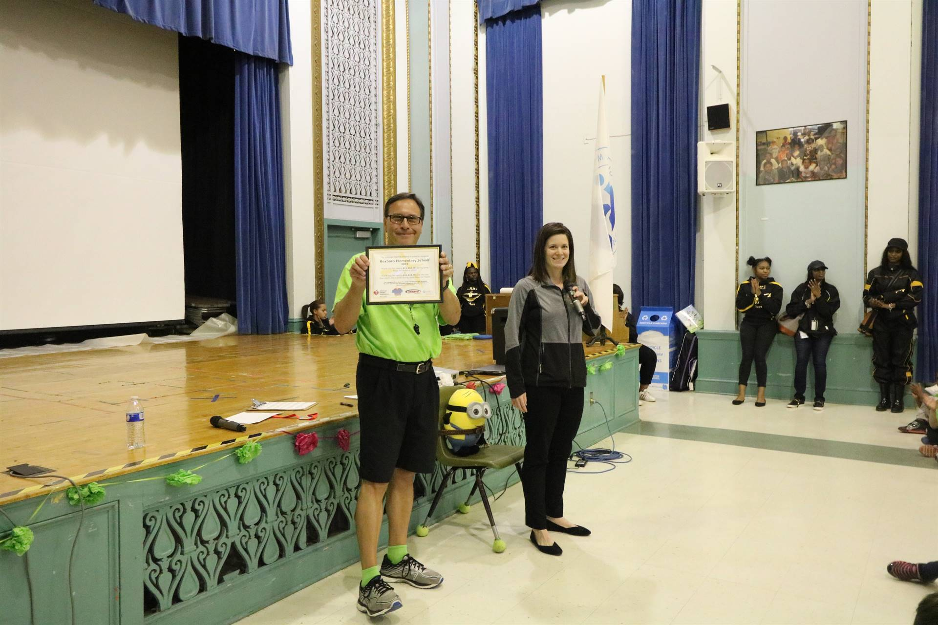 Vince Nemeth and Valerie Weber with certificate