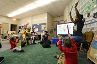 Preschool children playing instruments