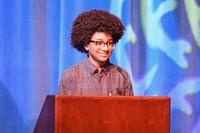 Boy at podium