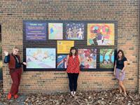 Studio Art Students Paint Millikin Mural